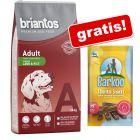 14 kg Briantos karma dla psa + 3 x Barkoo Dental Snacks dla średnich psów, 7 sztuk gratis!