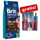 15/8 kg Brit Premium by Nature granuly + Rocco Sticks hovädzie zdarma!