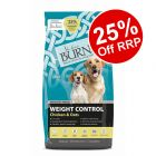 12kg Burns Adult & Senior Weight Control+ Chicken & Oats - 25% Off RRP!*