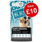 12kg Burns Puppy Original - Chicken & Rice - Save £10!*