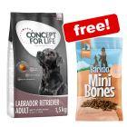 1.5kg Concept for Life Dry Dog Food + Barkoo Salmon Mini Bones Free!*