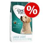 12 kg Concept for Life Light com 5 € desconto!