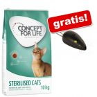 10 kg Concept for Life + Trixie Laserpointer Catch the Light gratis!