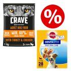 1kg Crave Adult Dog Food + 28 x Pedigree Dentastix Small - Special Bundle!*