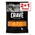1kg Crave Adult Dry Dog Food - 2 + 1 Free!*