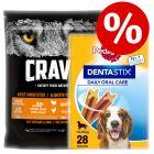 1kg Crave Adult Dry Dog Food + Pedigree Dentastix Medium - Special Bundle!*