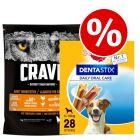 1kg Crave Adult Dry Dog Food + Pedigree Dentastix Small - Special Bundle!*