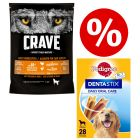 1kg Crave Adult Dry Dog Food + 28 x Pedigree Dentastix - Special Bundle!*