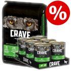 11.5kg Crave Dry Dog Food + 6 x 400g Wet Food - Bundle Price!*