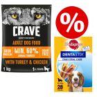 1kg Crave Dry Dog Food + 28 x Pedigree Dentastix Medium - Special Bundle!*