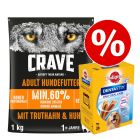 1 kg Crave Trockenfutter + Dentastix für grosse Hunde zum Sonderpreis!