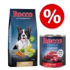 10 kg de mélange de flocons Rocco + 6 x 400g ou 800g de Rocco Classic pour chien