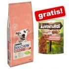 14 kg Dog Chow hrană uscată + 300 g AdVENTuROS Nuggets gratis!