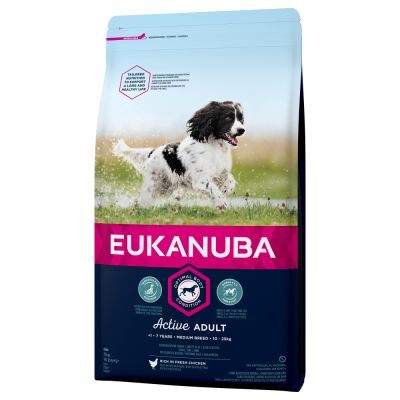 3 kg Eukanuba + 80 g 8in1 Fillets Pro Dental Hundesnacks gratis!