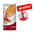 5 kg Farmina N&D + Snackball gratis!