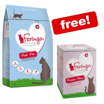 2kg Feringa Dry Cat Food + 6 x 100g Mixed Pack Trays Free!*