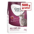 2,5 kg + 500 g gratis! 3 kg Concept for Life All Cats 10+