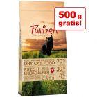6 kg + 500 g gratis! 6,5 kg Purizon hrană uscată pisici