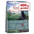 2,5 kg + 400 g gratis! 2,9 kg Purizon Sterilised Trockenfutter
