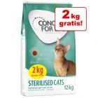 10 + 2 kg gratis! Concept for Life für Katzen im Bonusbag 12 kg