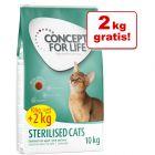 10 + 2 kg gratis! Concept for Life kattefôr i bonuspose