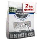12 + 2 kg gratis! Greenwoods Naturton-Klumpstreu mit Zeolith 14 kg