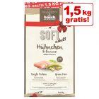 1,5 kg gratis! 14 kg bosch Soft Hühnchen & Banane