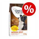 12 + 1,5 kg gratis! 13,5 kg Concept for Life Hundefoder i bonuspose