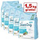 1,5 kg gratis! 4,5 kg Green Petfood InsectDog hypoallergen