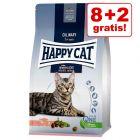 8 + 2 kg gratis! 10 kg Happy Cat crocchette per gatti