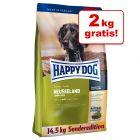 12,5 + 2 kg gratis ! 14,5 kg Happy Dog Nieuw-Zeeland Droogvoer