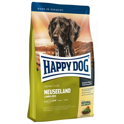 1 kg gratis! 12,5 kg Happy Dog Supreme Sensible Neuseeland