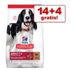 14 + 4 kg gratis! 18 kg Hill's Science Plan Hundefutter
