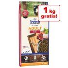 1 kg gratis! 11.5/12.5/15 kg hrană uscată bosch pentru câini