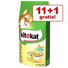 11 + 1 kg gratis! 12 kg Kitekat Adult hrană uscată pisici