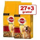 27 + 3 kg gratis! 30 kg Pedigree hrană uscată câini