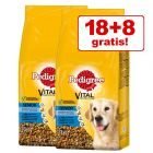 18 + 8 kg gratis! 26 kg Pedigree Vital Protection Senior 8+