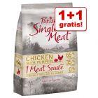 1 + 1 kg gratis! 2 kg Purizon Single Meat hrană fără cereale pentru câini