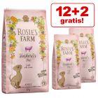 12 + 2 kg gratis! 14 kg Rosie's Farm