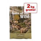 2 kg gratis! 14,2 kg Taste of the Wild tørfoder