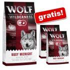 2 kg gratis! 14 kg Wolf of Wilderness hrană uscată câini