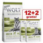 12 + 2 kg gratis! 14 kg Wolf of Wilderness Senior Trockenfutter
