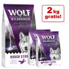 12 + 2 kg gratis! 14 kg Wolf of Wilderness Single Protein Trockenfutter