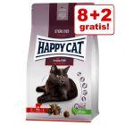 8 + 2 kg gratis! Nu 10 kg Happy Cat Sterilised Adult Rund Kattenvoer extra voordelig