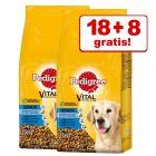 18 + 8 kg gratis! Pedigree Hundefutter 26 kg