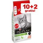 10 + 2 kg gratis! Pro Plan droogvoer