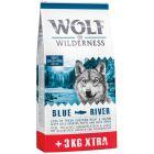 12 + 3 kg gratis! Wolf of Wilderness Adult Trockenfutter