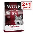 "2 + 1 kg gratis! Wolf of Wilderness ""Red Classic"" hrană uscată, 3 kg"