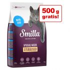 2,5 + 0,5 kg gratis! 3 x 1 kg Smilla Adult Sterilised