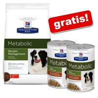 12 kg Hill's Prescription Diet + 2 lattine gratis!